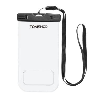 """TOMSHOO Wasserdichte Handytasche Dry Bag Pouch Transparente Touchscreen Handytasche für 6.0 """"Geräte"""