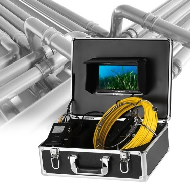 Lixada 20M / 30M Cable Drain Pipe Sewer Inspection Camera