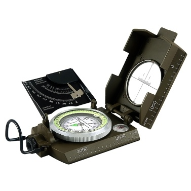 Optical Lensatic Sighting Compass with Pouch