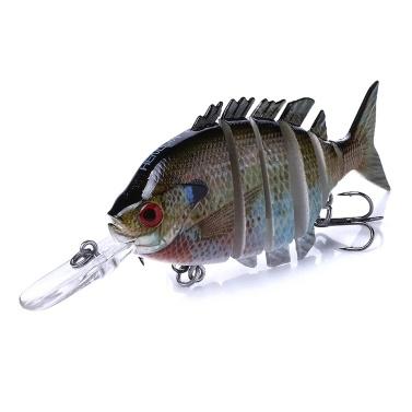 10cm / 12g Naturgetreuer 6-teiliger Swimbait Fischköder