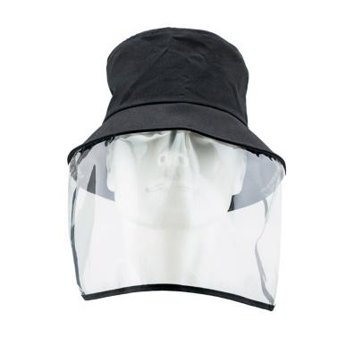 アンチドロップレット帽子フルフェイスマスク保護キャップ取り外し可能なデザイン再利用可能な屋外フェイスプロテクター用男性女性