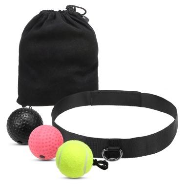 Boxing Reflex Ball Set 3 Level Punching Training Balls with Nylon Sport Headband