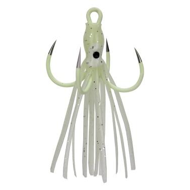 Leuchtende vier Klauenhaken Octopus Squid Köder für Bass