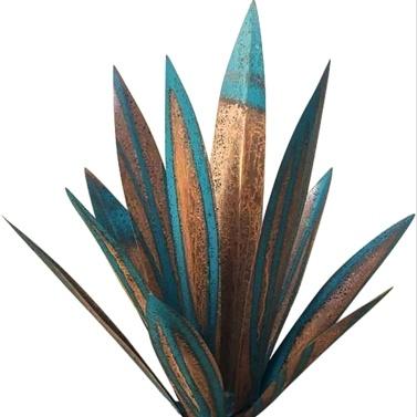 DIY Metall Agave Pflanzendekoration Tequila Rustikale Kunstskulptur für Outdoor Patio Garden Yard Art Ornaments