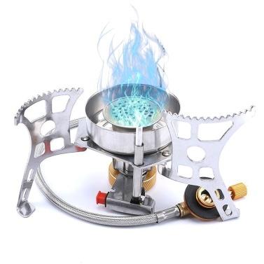 Портативная газовая плита Сплит-газовая печь На открытом воздухе Кемпинговая плита Пьезозажигательная плита / печь с ручным зажиганием
