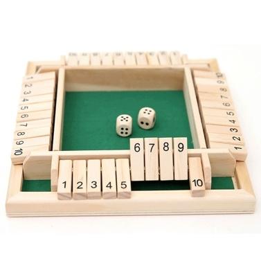 Juego de cuatro lados Flop Número de juego Juguetes Juego de mesa para padres e hijos Bar Fiesta Juego de ocio Juguetes matemáticos Juego digital para cuatro personas Juguetes