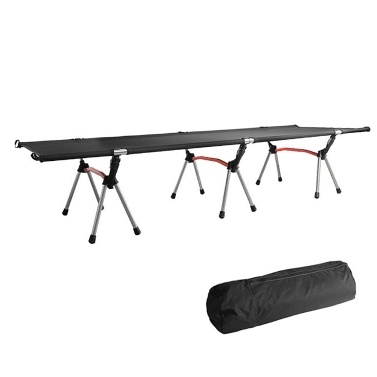 Outdoor Portable Folding Bed Single Person Camping Cot 264LB Bearing Weight Compact for Outdoor Picnic Camping Hiking