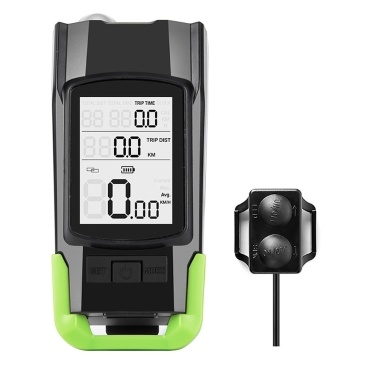 USB 3-in-1 Speedometer + Headlights + Horn Bicycle Computer 3 Mode Horn Flashlight Led Front Lights Cycling Headlight