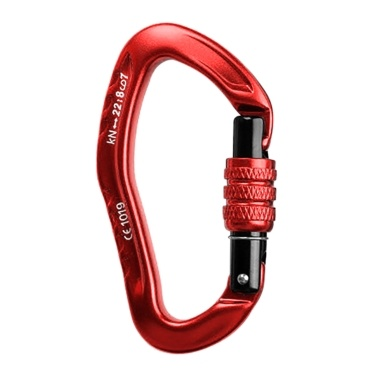 22KN D-Shaped Carabiner Lock Heavy Duty Aluminum Alloy Carabiner Spring-Loaded Gate Buckle Survival Equipment