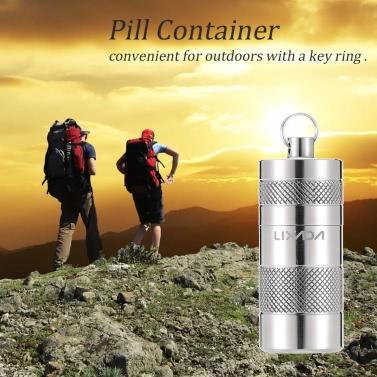 Lixada Titanlegierung Wasserdicht-Pille-Kasten-Kasten-Behälter Survival Kit