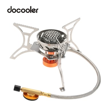 Docooler Windproof Foldable Camping Stove Gas Stove Burner Furnace for Outdoor Backpacking Hiking Camping hunting