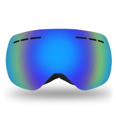 Lixada Rahmenlose Skibrille Winter Schnee Sport Snowboard Goggles Belüftete Anti-fog UV Schutz Sphärische Dual Objektiv für Snowmobile Ski Skating
