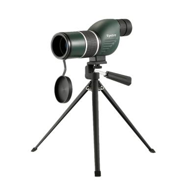 12-36x50 Straight / Angled Spektiv mit Stativ Portable Travel Scope Monocularteleskop mit Stativ Tragetasche für Vogelbeobachtung Camping Backpacking