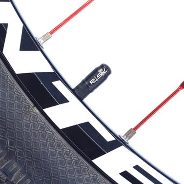 RISK 2PCS Schrader / Presta Valve Caps Ultralight Anodized Machined Titanium Alloy Bicycle Bike Tire Valve Caps Dust Covers