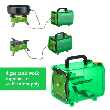 Outdoor Energy Warehouse Portable Picnic Camping Travel Power Gas Bottle Unit Bin Portable Stove Cylinder Gas Bin BBQ Natural Gas Case