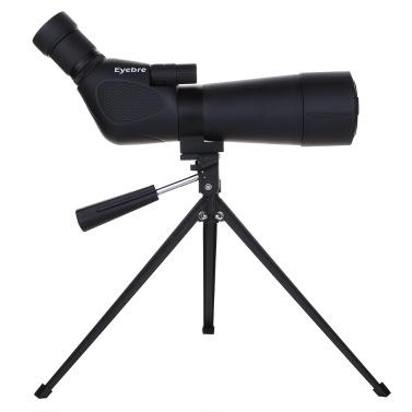 20-60x60 Stickstoff gefüllte wasserdichte Spektiv mit Stativ Portable Travel Scope Monocular Teleskop mit Stativ Tragetasche für Vogelbeobachtung Camping Backpacking Professional