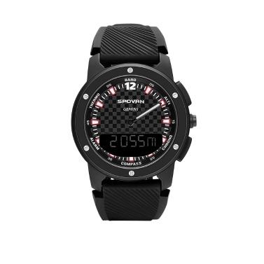 Männer Analog Compass Digital Dual Zeitanzeige Uhr Outdoor Smart Sport Höhenmesser Barometer Uhr 50 Mt Wasserdicht