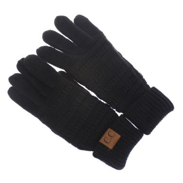 Winter Warm Soft Knitted Fullfinger CC Gloves