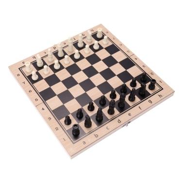 Faltbarer Drei-in-Eins-Anzug Schachbrett Schach Dame Anzug Backgammon Anzug Schachspiel Brettspiel