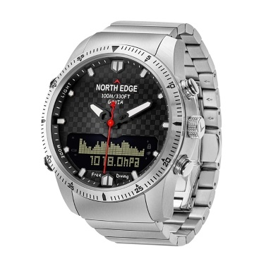 NORTH EDGE Herren Sport Digital Analoguhr Taucheruhr
