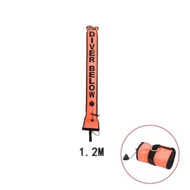 1.2M 1.5M 1.8M Buntes sichtbares aufblasbares Signalrohr-Sporttauchen-Oberflächen-Signal-Markierungs-Boje