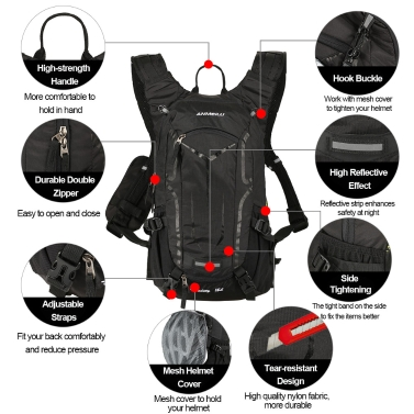 Lixada18L Water-resistant Breathable Bicycle Bike Shoulder Backpack