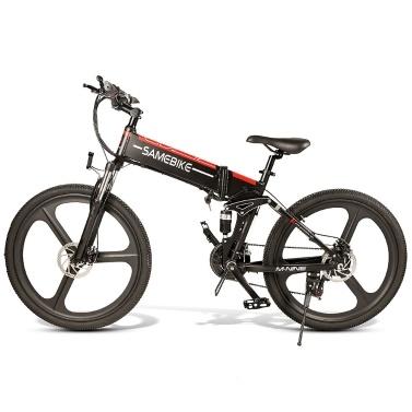Samebike LO26-BKNEW 26 Inch Folding Electric Bike 10AH 350W