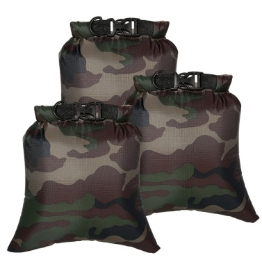 3Pcs 8L Outdoor Waterproof Storage Bags Dry Sacks Smartphone Camera Storage Bags