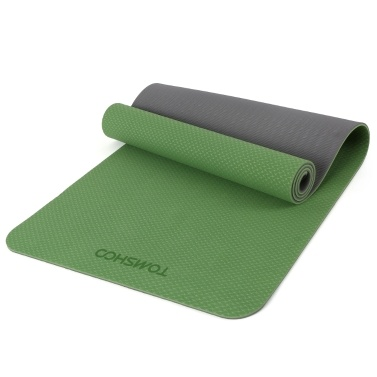 TOMSHOO 72,05 × 24,01 Zoll tragbare doppelte zweifarbige Yogamatte Verdicken Sie die Sportmatte Anti-Rutsch-Trainingsmatte