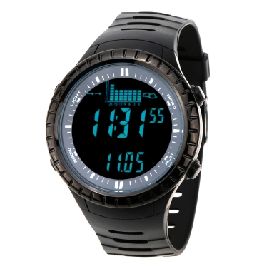 Spovan 5ATM Waterproof Outdoor Fishing Watch Altimeter Barometer Thermometer Multifunctional Digital Wristwatch