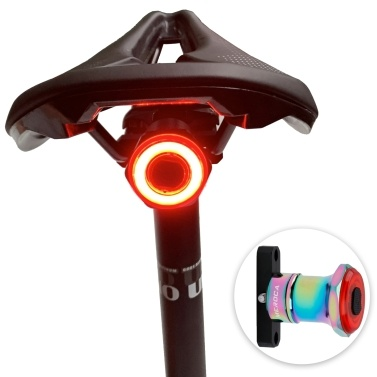 Smart Bike Tail Light Back Brake Light Waterproof USB Rechargeable Safety Taillight Rear Bicycle Flashlight