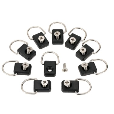 10pcs High Quality Kayak D Rings Outfitting Rigging Boat Canoe Kayak Accessories