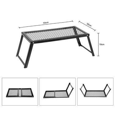 Docooler 55 * 30 * 18cm Heavy Duty Over Fire Camping BBQ Grill Foldable Portable