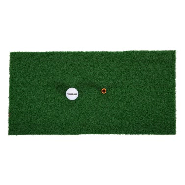 TOMSHOO 60 * 30cm Golf Mat Wohn Praxis Abschlagsmatte Gummi T-Halter