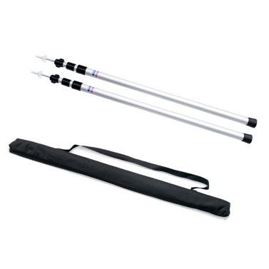 Thicken Aluminum Alloy Tent Pole Adjustable Tent Support Rods Beach Shelter Tarp Awning Pole Replacement Poles Accessories for Camping Hiking Backpacking Tent