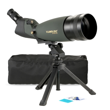 Visionking 30-90x100 Angled Spotting Scope BaK4 Waterproof Fogproof Height Adjustable Portable Travel Scope Monocular Telescope with Tripod Carry Case for Bird Watching Camping