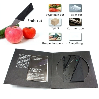 Outdoor Pocket Folding Cutter Portable Safety Carry Cards
