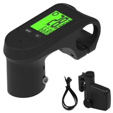 Wireless Bicycle Computer with Stem 2 in 1 Waterproof Mountain Bike Stem with Computer with LCD Backlight Display Bike Speedometer and Odometer for Mountain Bike