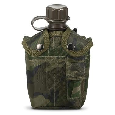 1L Militärkantine Flasche im Freien
