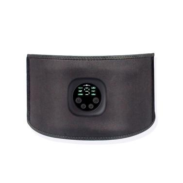 Inteligente Unisex USB Recarregável EMS Fitness Trainer Belt Display LED Estimulador Muscular Elétrico Adesivo Muscular Abdominal Dispositivo de Treinamento Muscular Em Casa