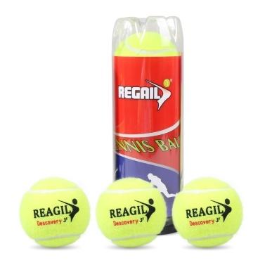 3 Pack Tennis Balls Indoor Outdoor Tennis Practice Training Balls