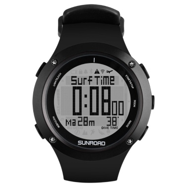 Men 10ATM Waterproof Dive Watch Outdoor Sport Barometer Altimeter Compass Thermometer Watch for Diving Swimming Snorkeling Mountaineering   Running Trekking