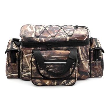 Large Capacity Fishing Tackle Bag Waterproof Fishing Tackle Storage Bag Case Outdoor Travel Hunting Shoulder Bag Pack