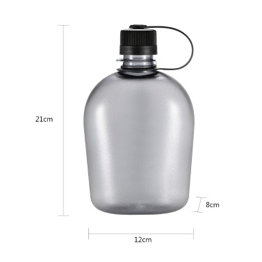 500ml/750ml/1000ml Tactical Water Bottle with Handle Drinking Container Military Lightweight Portable for Outdoor Leisure