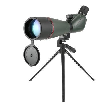 Eyeskey 20-60x80 Angled Spotting Scope BaK4 Wasserdicht Fogproof Portable Travel Scope Monocular Teleskop mit Stativ Tragen Fall für Vogelbeobachtung Camping