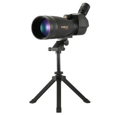 Visionking 30-90x100 abgewinkelt Spektiv BaK4 wasserdicht Fogproof Hieght verstellbare tragbare Reise-Bereich Monocularteleskop mit Stativ Tragetasche für Vogelbeobachtung Camping