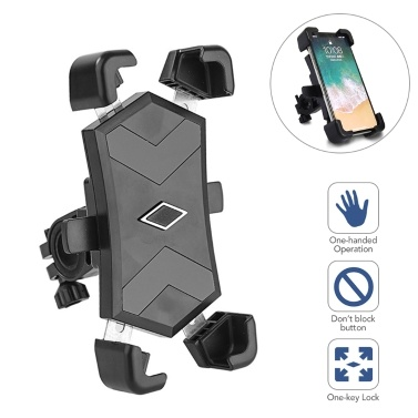 Bicycle Phone Holder 360° Rotation Phone Mount Adjustable Mobile Phone Support
