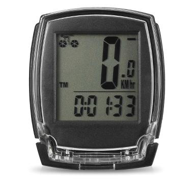 Wireless Bike Computer Tachometer Digitales Fahrrad Kilometerzähler Stoppuhr Thermometer EL Hintergrundbeleuchtung