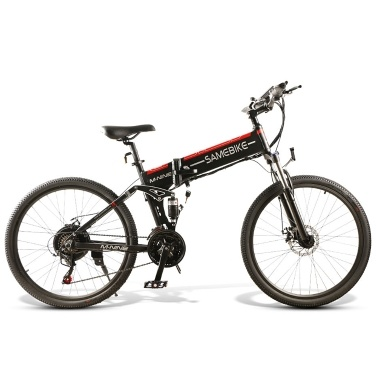 Samebike LO26-BKFT bicicleta elétrica dobrável de 26 polegadas