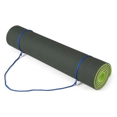 Lixada 72.05 × 24.01in Tragbare doppelte zweifarbige Yogamatte Verdicken Sie die Sportmatte Anti-Rutsch-Trainingsmatte